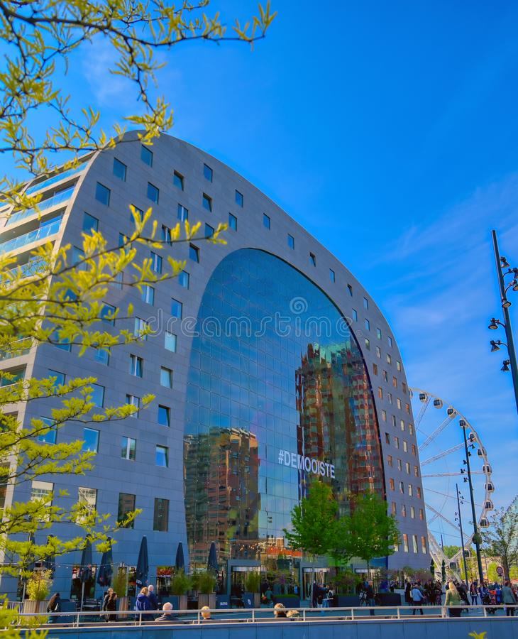 The Markthal Market Hall in Rotterdam, Netherlands royalty free stock photography