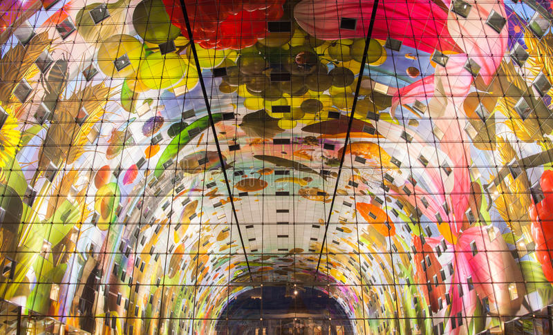 Markthal in Rotterdam royalty-vrije stock foto's