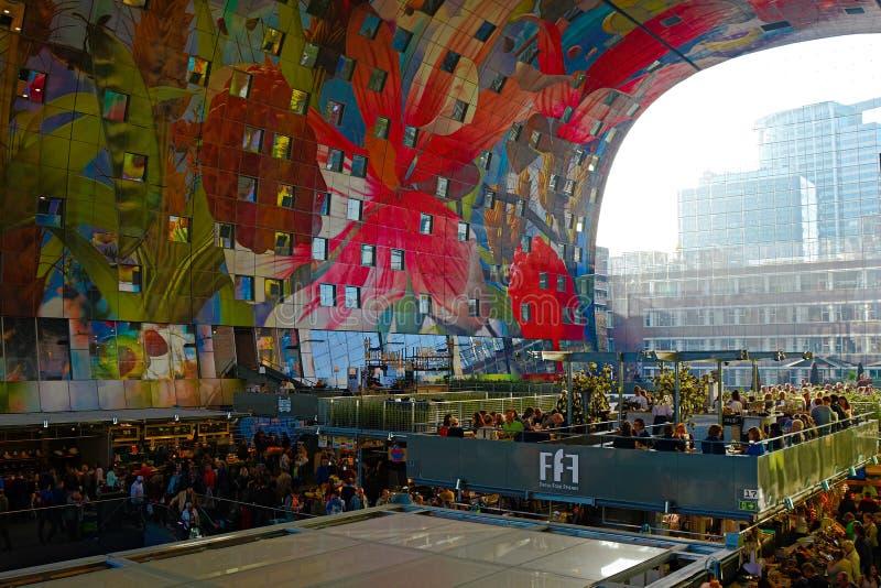 Markthal Rotterdam royalty-vrije stock afbeelding