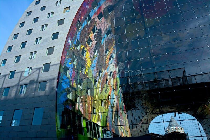 Markthal Rotterdam royaltyfri bild