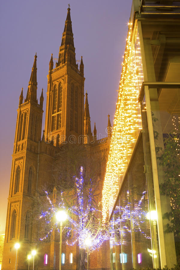 Marktkirche στο Βισμπάντεν στη Γερμανία στοκ φωτογραφία με δικαίωμα ελεύθερης χρήσης