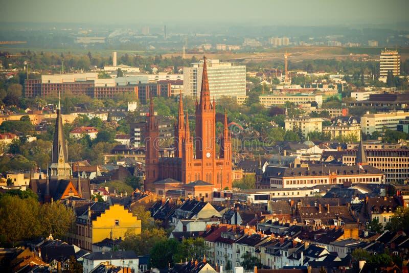 Marktkirche em Wiesbaden, Alemanha imagens de stock royalty free