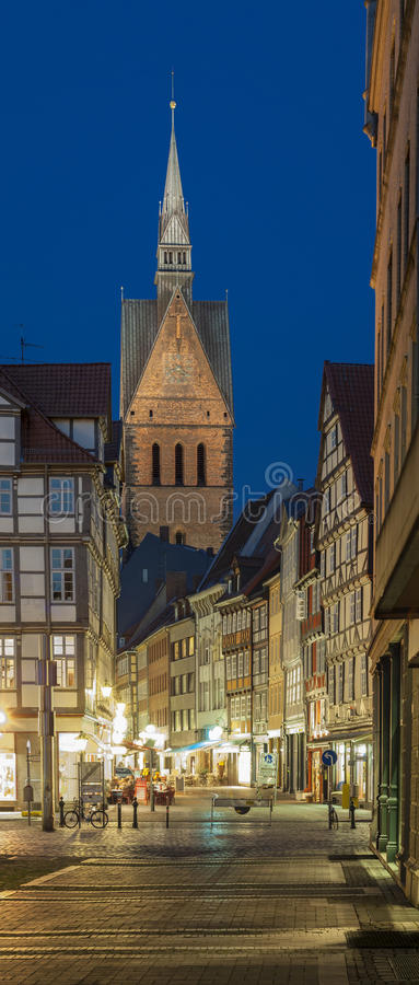 Marktkirche in Hanover, Duitsland royalty-vrije stock afbeeldingen