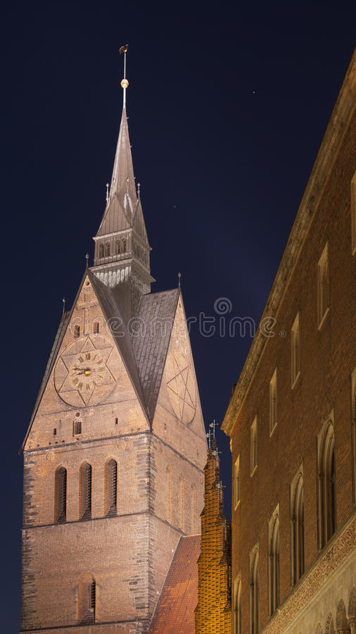 Marktkirche in Hanover, Duitsland stock afbeeldingen