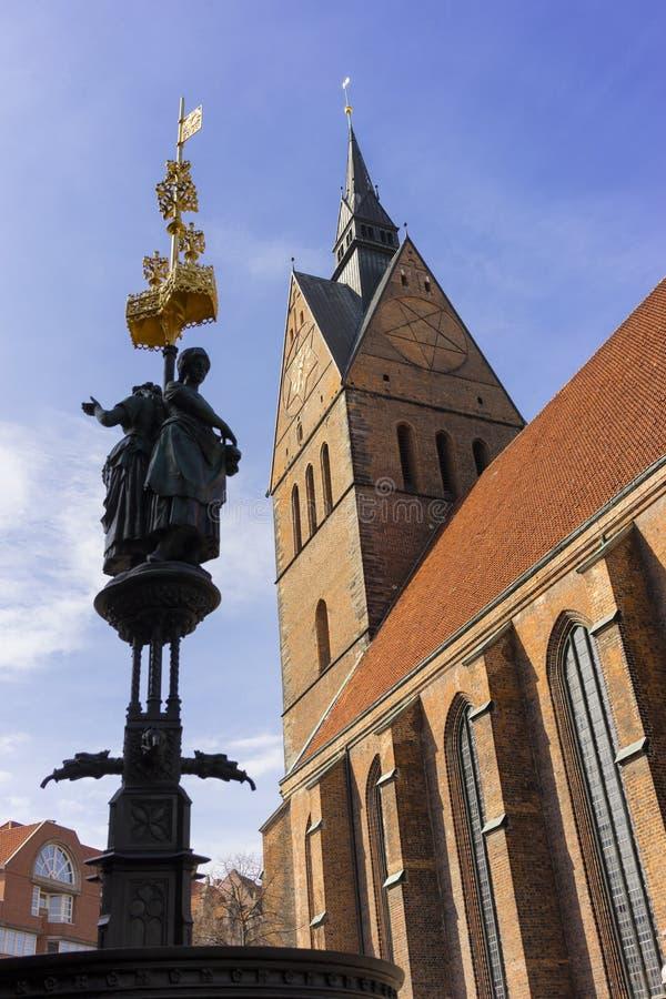 Marktkirche in Hanover, Duitsland stock foto