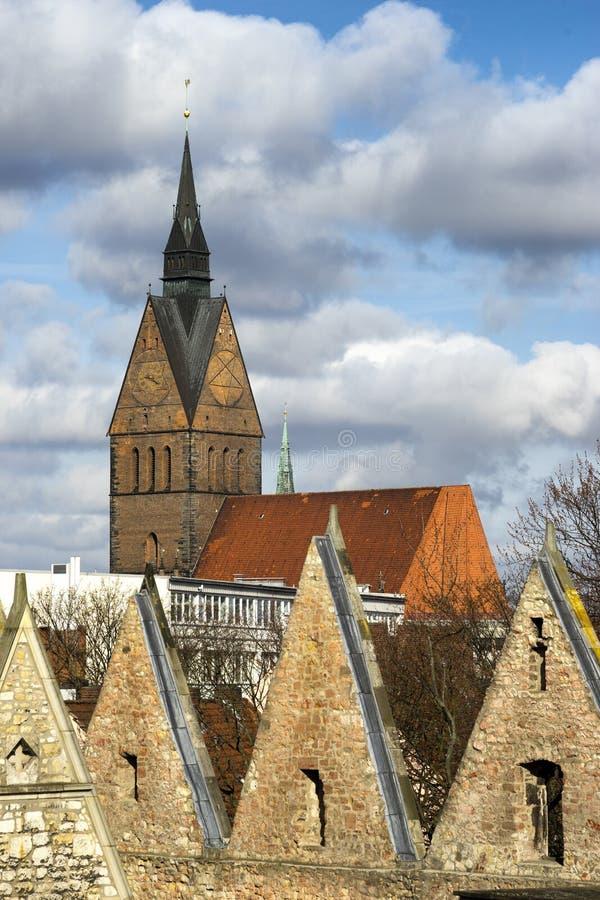 Marktkirche in Hanover, Duitsland royalty-vrije stock foto