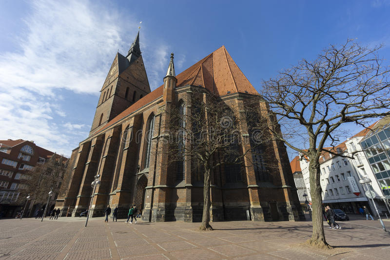 Marktkirche in Hanover, Duitsland stock afbeelding