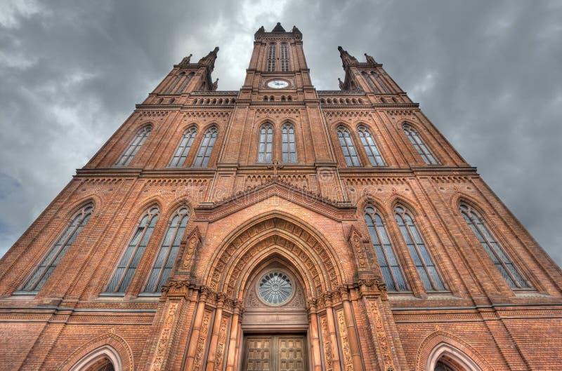 Marktkirche kościół w Wiesbaden, Niemcy obraz stock