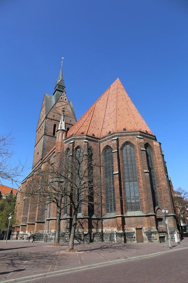 Marktkirchekerk in Hanover, Duitsland stock afbeelding