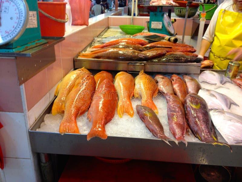 Marktkramen in de Stad van Singapore China royalty-vrije stock fotografie
