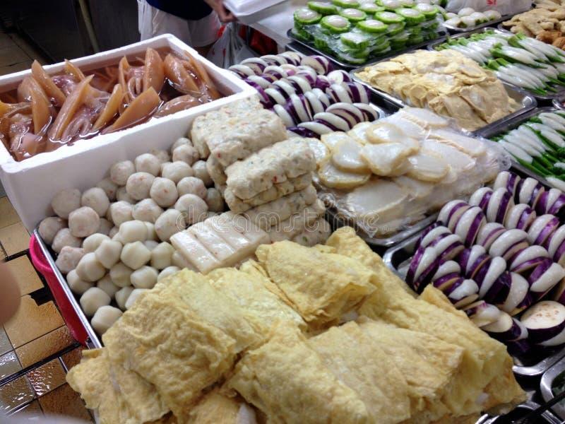 Marktkramen in de Stad van Singapore China royalty-vrije stock afbeeldingen