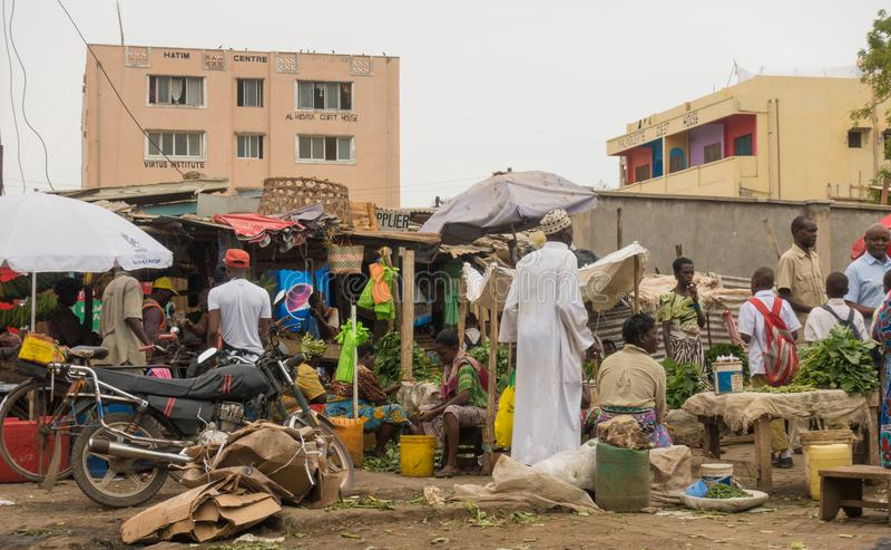 Marktlandschap in Malindi, Kenia royalty-vrije stock afbeeldingen