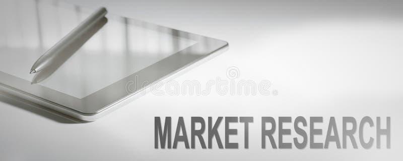 MARKTONDERZOEK Bedrijfsconcepten Digitale Technologie stock afbeeldingen