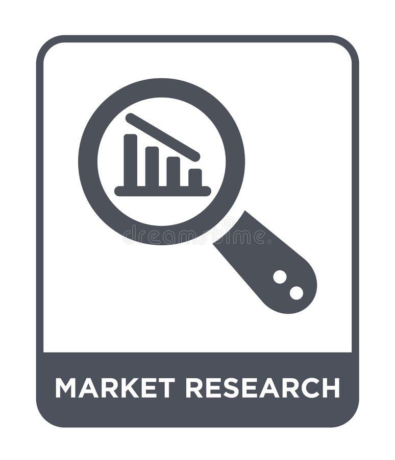 marktonderzoekpictogram in in ontwerpstijl marktonderzoekpictogram dat op witte achtergrond wordt geïsoleerd eenvoudig marktonder vector illustratie