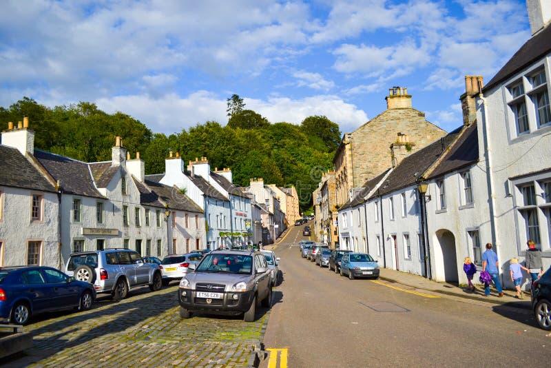Marktplaats in Dunkeld, Perth en Kinross, Schotland het Verenigd Koninkrijk stock foto