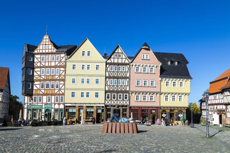 Marktplaats in Hessenpark in Neu Anspach stock afbeelding