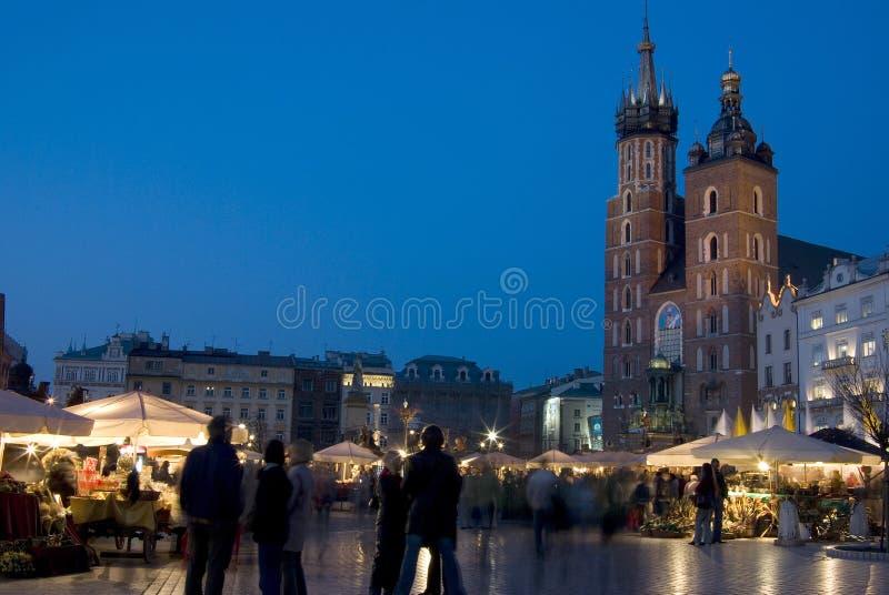 Marktplaats in Krakau royalty-vrije stock afbeeldingen