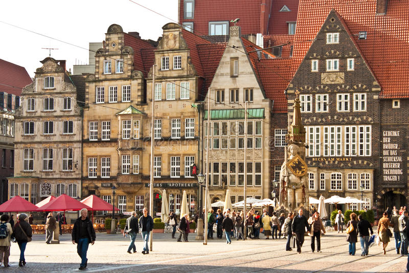 Marktplatz (рыночная площадь) в Бремене, Германии стоковое изображение rf