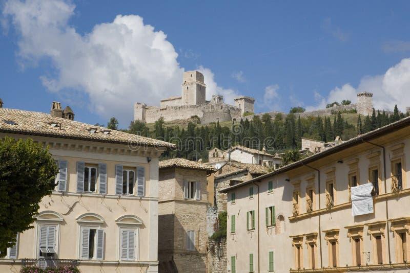 Marktplatz in Assisi lizenzfreie stockbilder