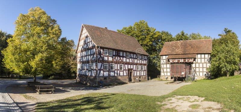 Marktplatz bei Hessenpark in Neu Anspach lizenzfreies stockfoto