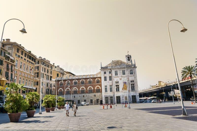 Marktplatz Caricamento-Quadrat in Genoa Italy lizenzfreies stockbild
