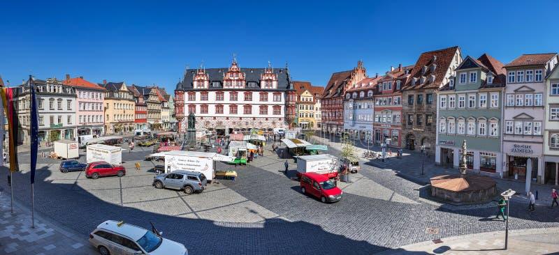 Marktplatz of Coburg royaltyfri fotografi