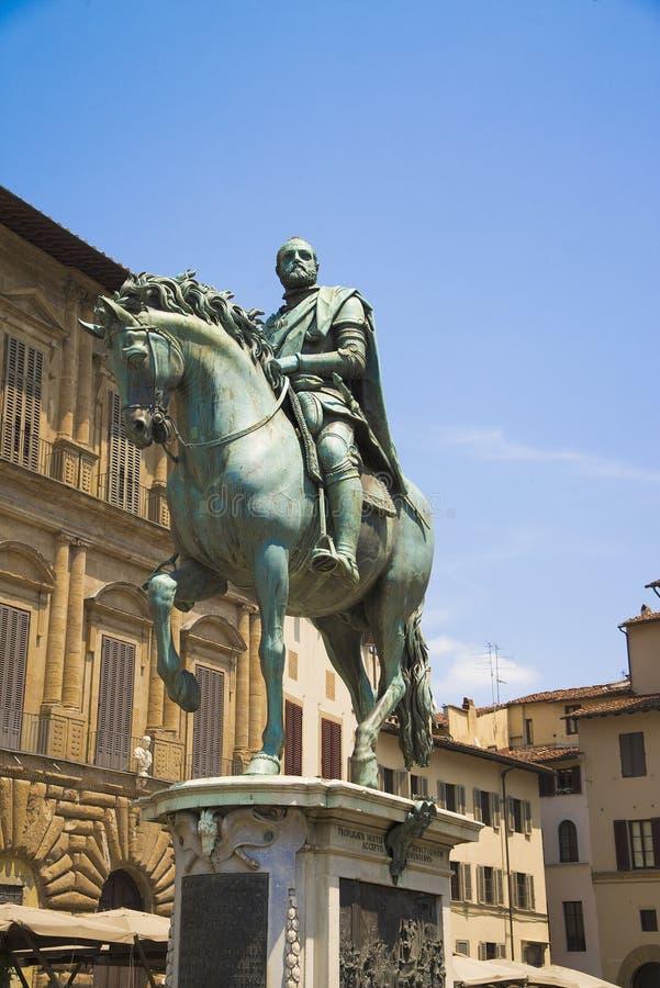 Marktplatz della Signoria, ein Monument zu Cosimo de Medici in Florenz, Italien lizenzfreies stockbild