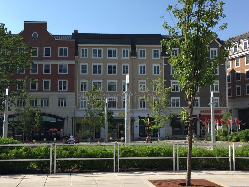 Marktplatz an der Universität von Connecticut ( UConn) in Storrs Connecticut stockfoto