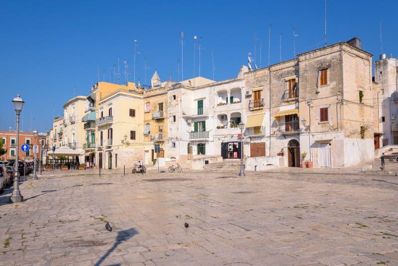Marktplatz Ferrarese in der Mitte von Bari lizenzfreie stockfotos