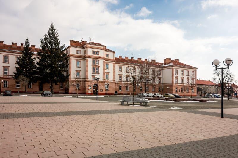 Marktplatz Hanacke-namesti in Kromeriz, Tschechische Republik stockfoto