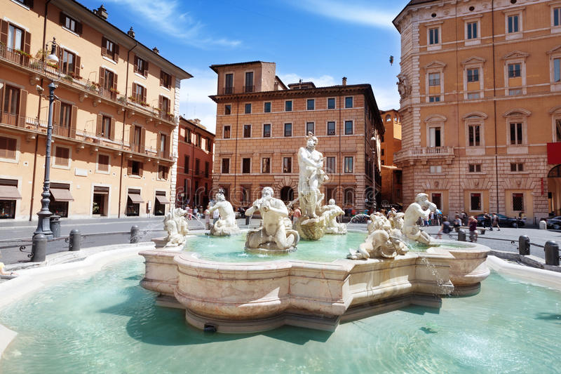 Marktplatz Navona, Rom lizenzfreie stockbilder