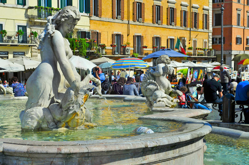 Marktplatz Navona in Rom, Italien lizenzfreies stockbild