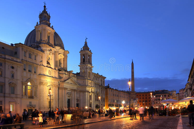 Marktplatz Navona, Rom, Italien lizenzfreie stockfotos
