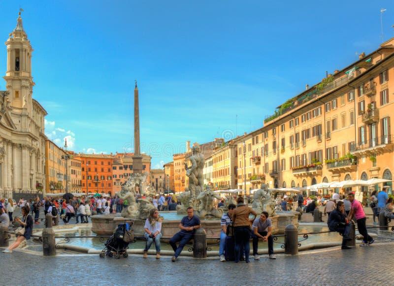 Marktplatz Navona, Rom, Italien stockbild