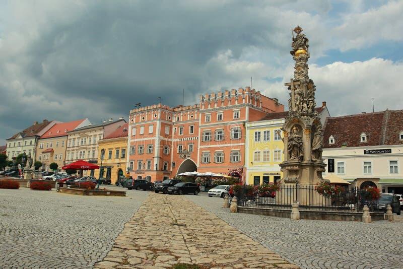 Marktplatz in Retz stockfotografie