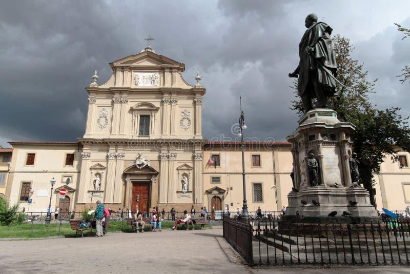 Marktplatz San Marco in Florenz stockfoto