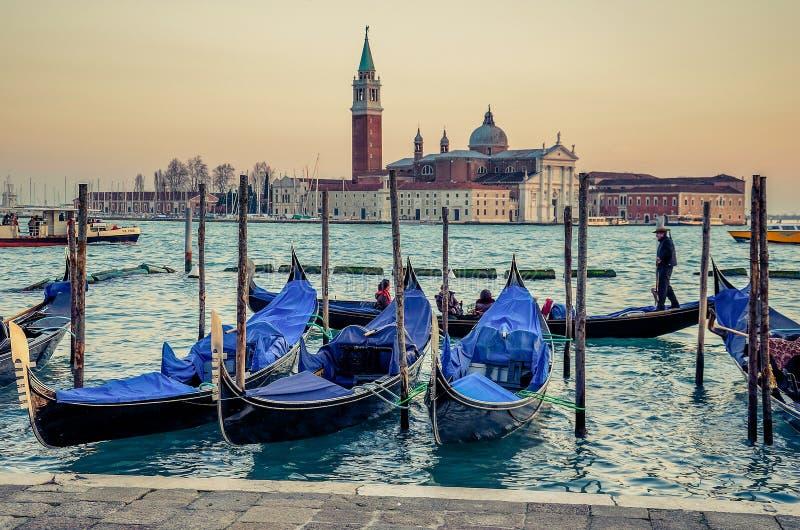 Marktplatz San Marco Venezia - Rest der Boote lizenzfreies stockbild