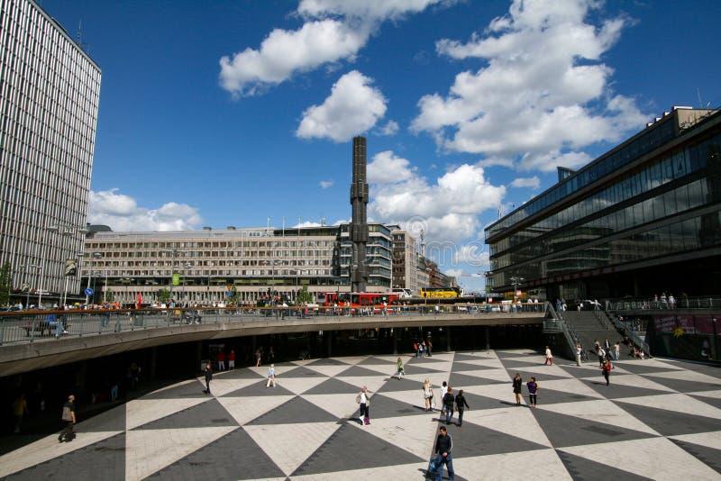 Marktplatz Stockholm royalty-vrije stock foto