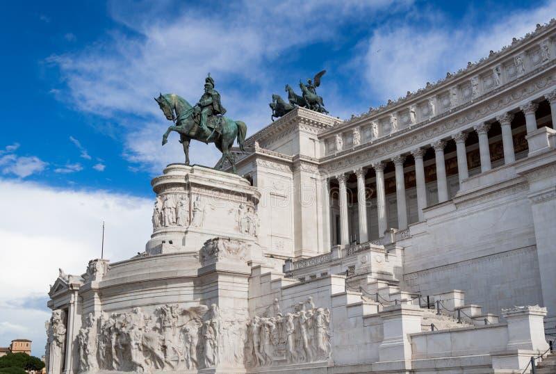 Marktplatz Venezia, Monument von Victor Emmanuel II lizenzfreies stockfoto