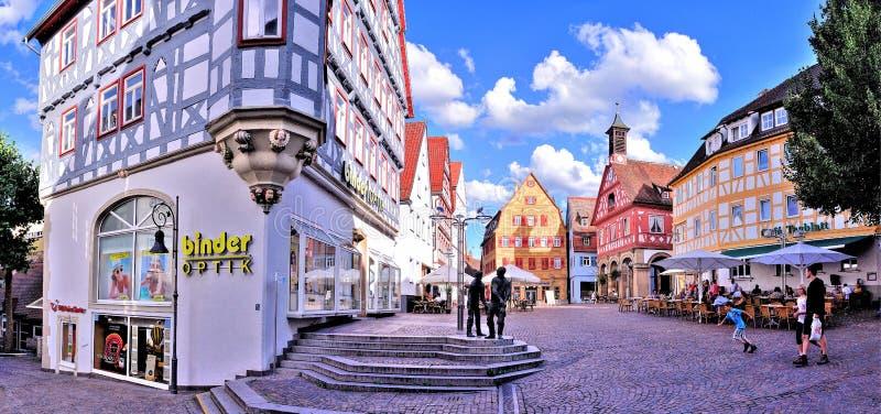 MarktPlatz Waiblingen royalty-vrije stock afbeelding
