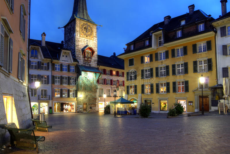marktplaz solothurn正方形瑞士 库存图片