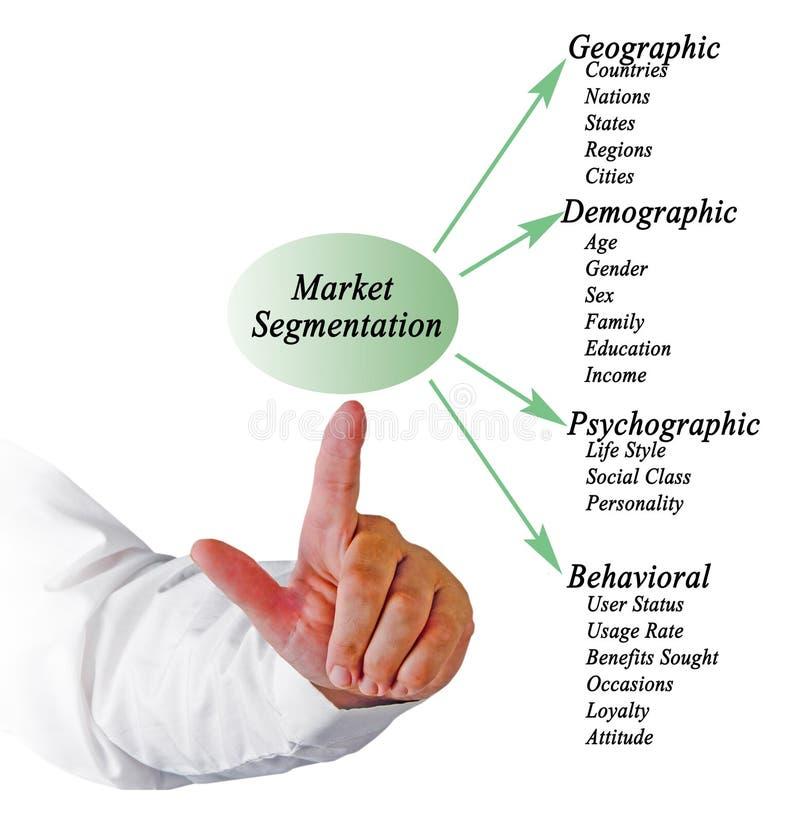 Marktsegmentatie royalty-vrije stock afbeelding