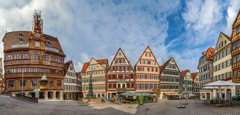 Marktvierkant, Tübingen, Duitsland stock afbeelding