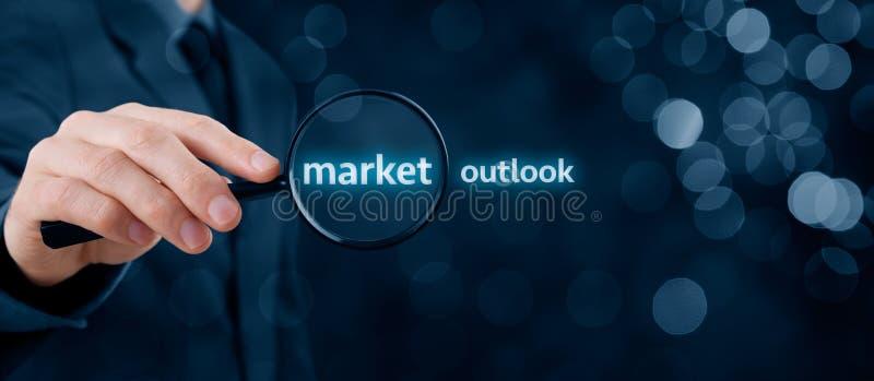 Marktvooruitzichten stock foto's