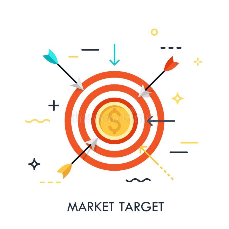 Marktziel-Leistungskonzept stock abbildung