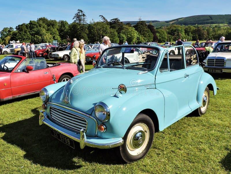 Marlaypark auto-hoe Blauwe uitstekende auto royalty-vrije stock fotografie