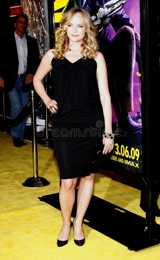 Marley Shelton. At the Los Premiere of `Watchmen` held at the Grauman`s Chinese Theater in Hollywood, California, United States on March 3, 2009 royalty free stock photo