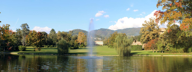 Marlia - вилла Reale - сады стоковое фото rf