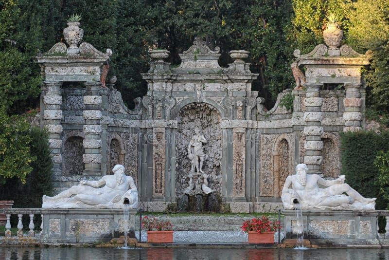 Marlia - вилла Reale - fontain стоковое изображение