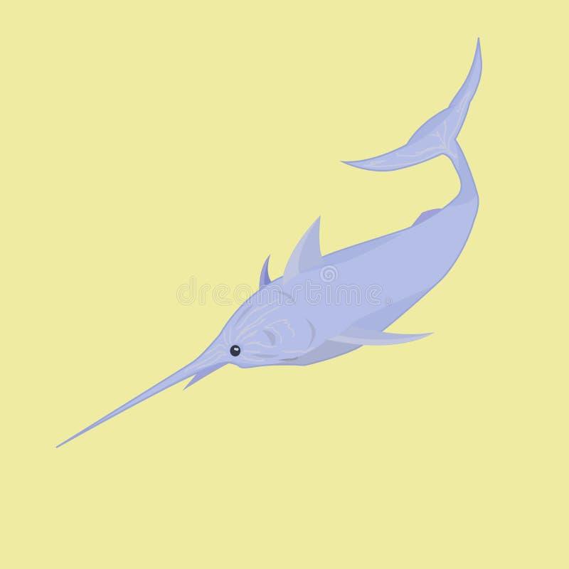 Marlijn, vissen van het diepste overzees stock fotografie